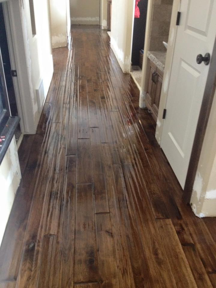 Dark Stained Hand Sed Hickory