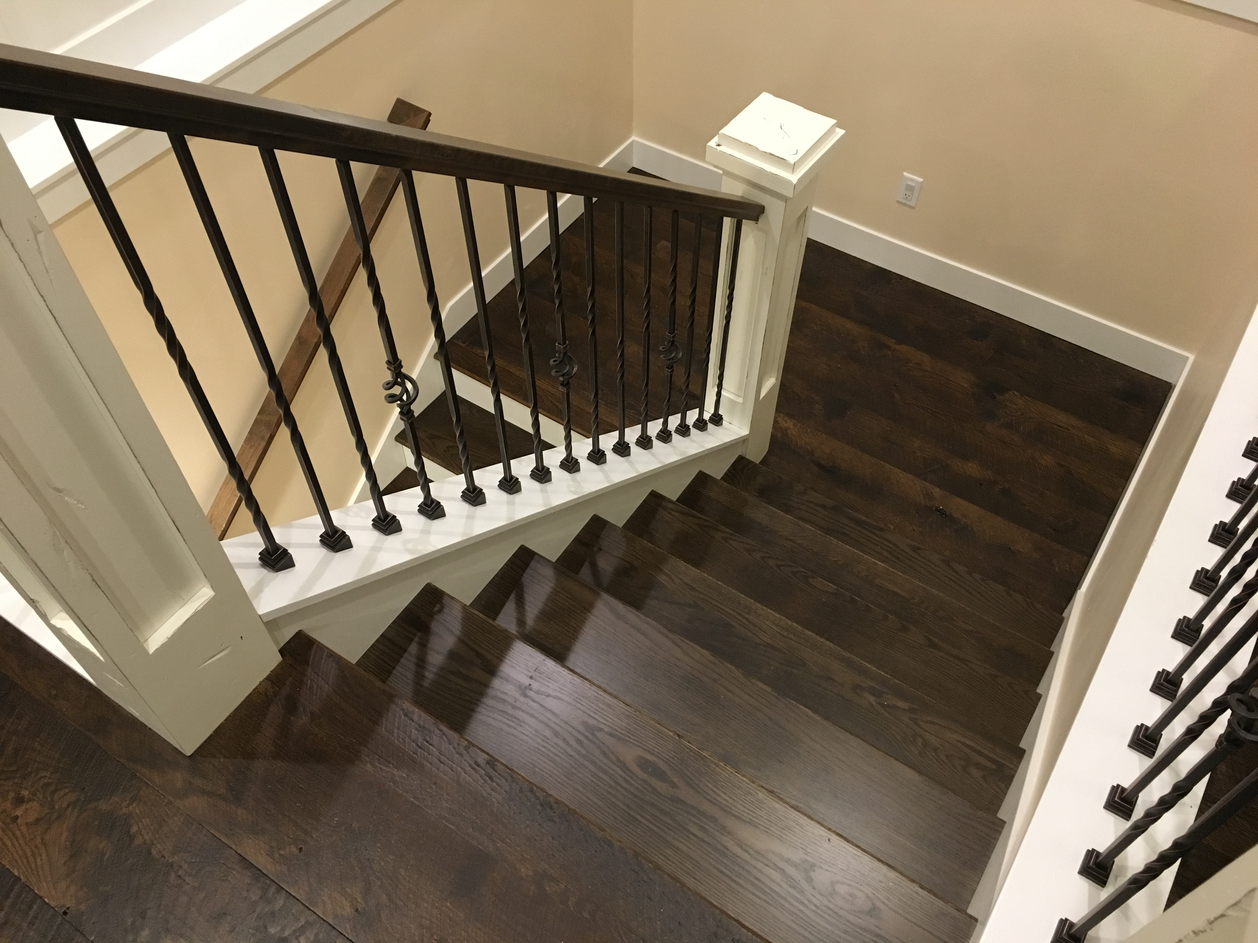 Oak Stair Package Dark Brown Treads